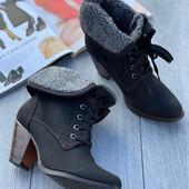 Супер утеплённые ботинки ЭКО кожа