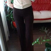 Красивые брюки с высокой посадкой + молочная кофта р 36 в прекрасном сост