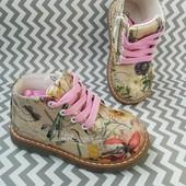 Стильні ботинки, черевички для дівчинки С.Луч 22р.