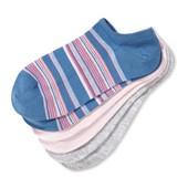☘Лот 3 пары ☘ Набор низких качественных носочков, Tchibo(Германия), размер: 35-38