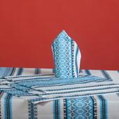 Скатерть вышиванка натуральный тканый орнамент. фото 2