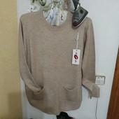 Ніжна якісна кофтинка-пуловер кольору капучино