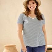 Редкий размер! Отличная футболка,вискоза+лен,Esmara. Размер 3XL, евро 56-58. упаковка!