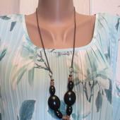 Шикарная дорогая блуза мятных оттенков на роскошные формы ПОГ-57-68.