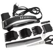 Новая Машинка для стрижки волос с комплектом аксессуаров