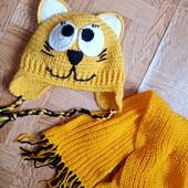 Шапка и шарф на 1-2 года