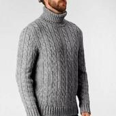 Шикарный вязаный мужской свитер , 100 % Хлопок , Сanda , C&а , 3XL ( наш 64 - 68 )