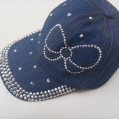 Бейсболка женская джинсовая 56-58