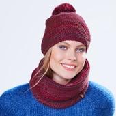 ☘ Теплый вязаный снуд- шарф на флисе Tchibo(Германия), размер универсальный