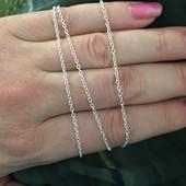 50 см. Цепочка - плетение якорь , покрытие - стерлинговое серебро , проба 925