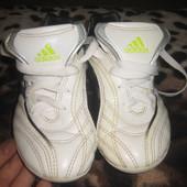 Оригинальные кожаные футзалки adidas футбольные бутсы стелька 18,5см