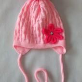 Розовая весенняя шапка Alex Group р. 48-49