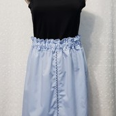 Женская летняя коттоновая юбка с вышивкой р 44-46