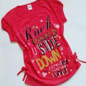 Туника-футболка 2 шт. в лоте!-2 любые футболки на девочку.