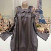 Платье свободного кроя, с открытыми плечиками, Missguided, размер S - M.