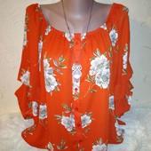Шикарная яркая блуза 14/42 размера.