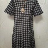 Шикарное плотненькое фактурное платье Louche с карманами р.10(S) Новое состояние Акция читайте
