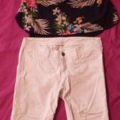 Одним лотом! Качественные вещи на лето, блузка и капри р.40/L Смотрите замеры!
