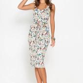 Шикарное цветочное платье в идеальном состоянии
