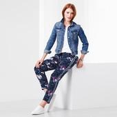 Тканые брюки с цветочным мотивом от Tchibo(Германия), рр. наши:50-52 (46 евро