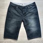 Фирменные мужские джинсовые шорты в отличном состоянии р. 52-56 на пот-49-51см.