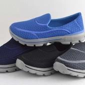 Лёгкие кроссовки без шнурков. Дышат.37р=23,5см