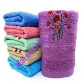 Лицевое полотенце Маки, 100*50см, лот 1шт. Турция