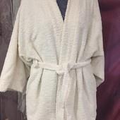 Махровый халат из 100% хлопка. Производитель Бельгия. Размер 50-58, смотрите замеры