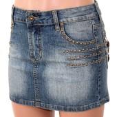 Юбка детская подростковая фирменная джинсовая Р. 26-27