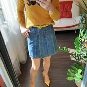 Очень красивая джинсовая юбка + трендовая кофточка Zara в подарок. Можна подростку