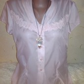 Нежная прозрачная блузочка 48 размера.