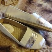 Кожаные туфли балетки от Michael Kors, 41 размер 26 см стелька