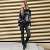 Стильные джинсы -треггинсы с высокой посадкой tcm tchibo германия, р. 48евро=54/56 наш,