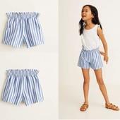 Модные летние шорты для девочки из натурального льна