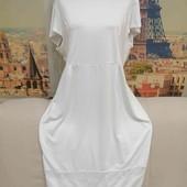 Белоснежное новое платье, размер L - XL