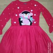Супер лот!!! Платье новогоднее на девочку 4года см замеры на фото