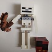 Майнкрафт Скелет с кубом магмы - аналог lego