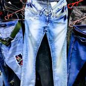 Новые турецкие джинсы Revolt, размер 26,S-M, поб 42 см, пот 28 см
