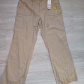 Фирменные новые красивые льняные брюки р.14-16