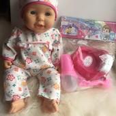 Анатомический малыш 40см. Baby Born фирма CitiToy ( функция пить и писять) с набором аксессуаров!!!!