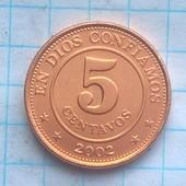 Никарагуа 5 сентавос 2002