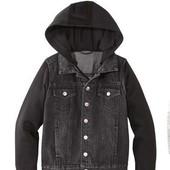 Сток!!! Стильная, суперовая джинсовая курточка с капюшоном! Lupilu, на выбор: черная 1-2 или 5-6 лет