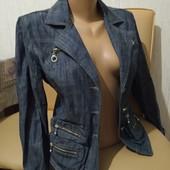 Джинсовый пиджак р.44-46,L