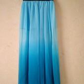 Шикарная легчайшая юбка омбре