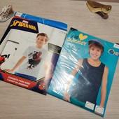 Германия!!! Суперовый лот для мальчика: коттоновая футболка и майка! 134/140!