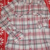 Фирменная легкая рубашка 12 р. 100% коттон, отличное состояние