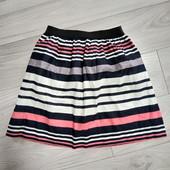 Фирменная красивая коттоновая юбка в состоянии новой вещи р.8-12