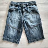 Фирменные джинсовые шорты-бриджи р.158,5 в отличном состоянии на пот-38-40