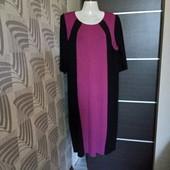 Фирменное трикотажное платье в отличном состоянии р.18-22 вискоза 85%