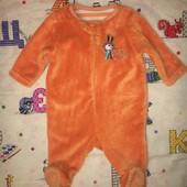 Пакет одягу на 0-3 місяці, 56 см, теплі чоловічки, двусторонняя кофточка, флісова жилетка